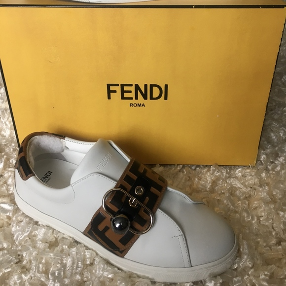 Fendi Pearland Leather Sneakers